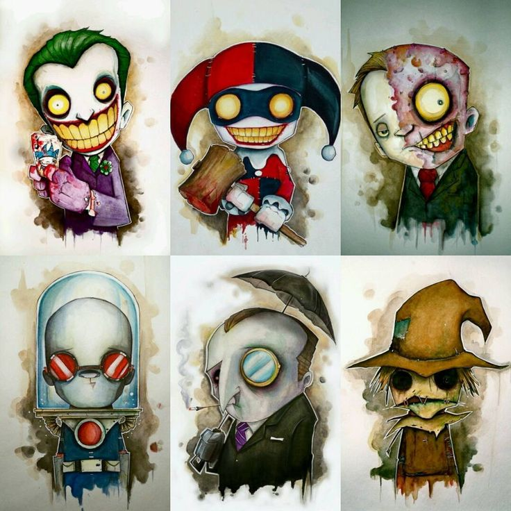 Gotham City Rogues by @uminga720  #GothamCity #Rogues #TheJoker #HarleyQuinn #TwoFace #MrFreeze #ThePenguin #Scarecrow #Batman #DCComics