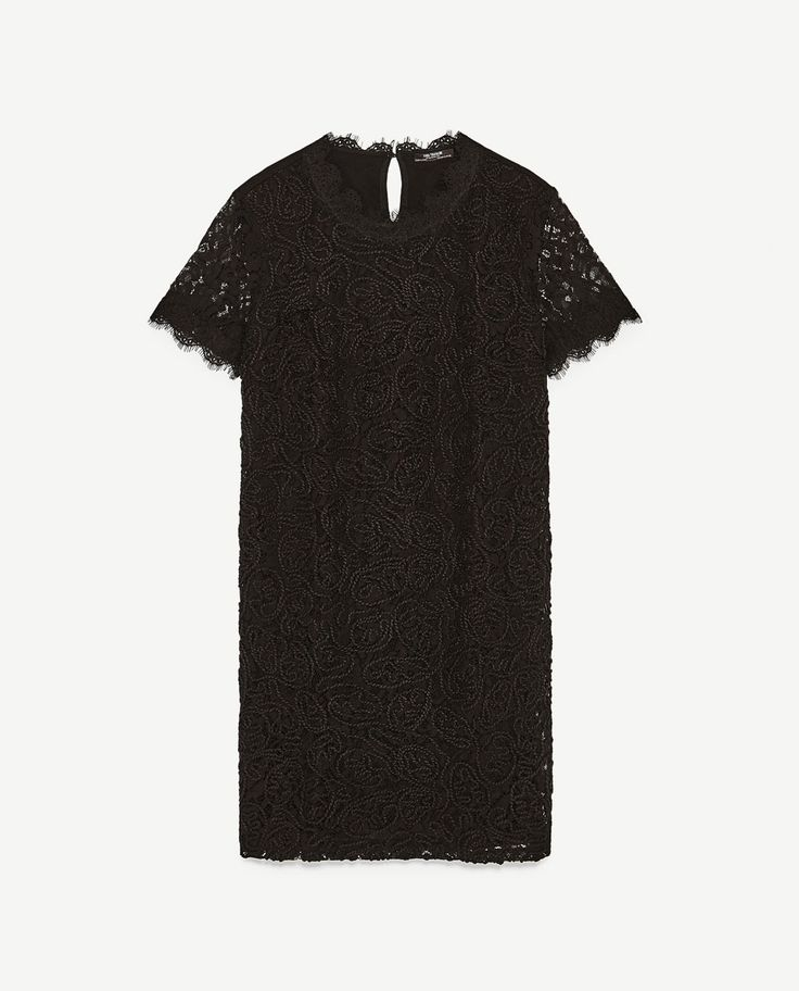 Image 8 of CONTRAST LACE DRESS from Zara