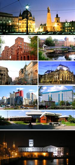 "Freedom Square, Manufaktura Centre, Lodz University of Technology, Piotrkowska Street, Poznański Palace, The ""Łódź Manhattan"", Medical University in Lodz, Academy of Fine Arts in Lodz, The White Factory"