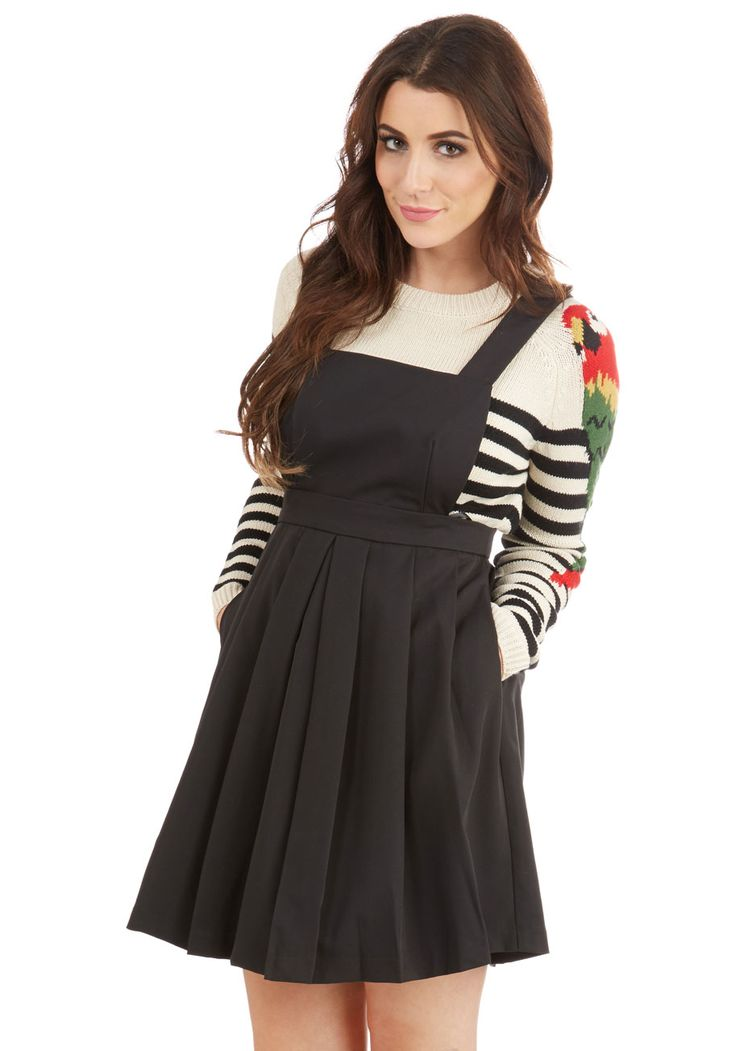 Bicycle Built for Cute Jumper in Licorice. Traveling tandem never looked so cute as when you find your seat while wearing this black jumper! #black #modcloth