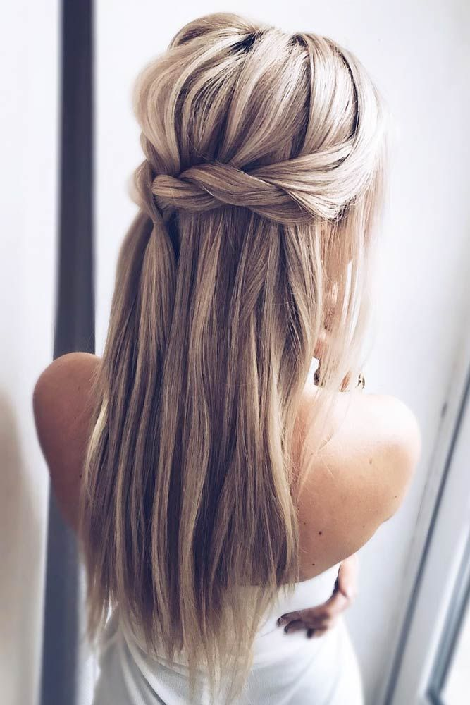 65 Straight Hairstyles For Long Hair Lovehairstyles Com Long Hair Styles Braided Hairstyles For Wedding Straight Hairstyles