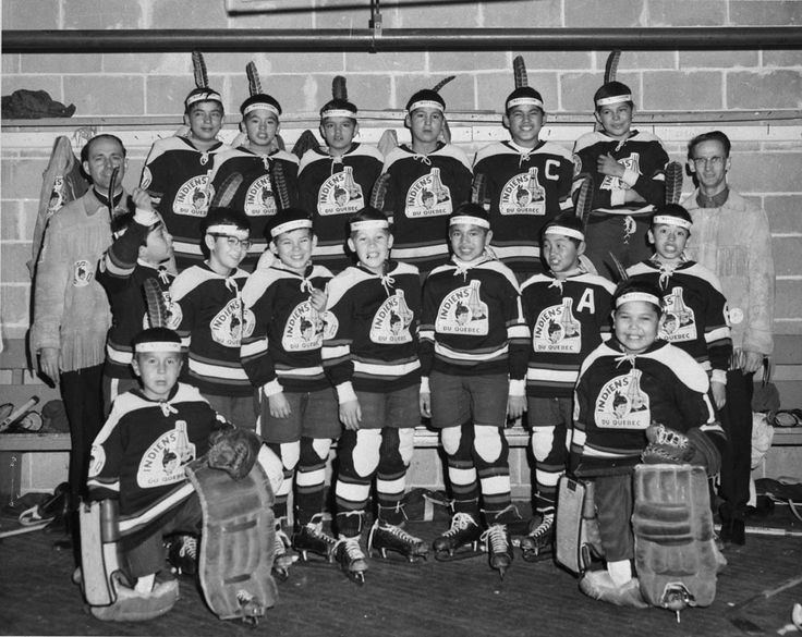 Residential Schools - A Photo History - La Tuque Residential School's hockey team at a tournament held during the Quebec Winter Carnival in 1967.