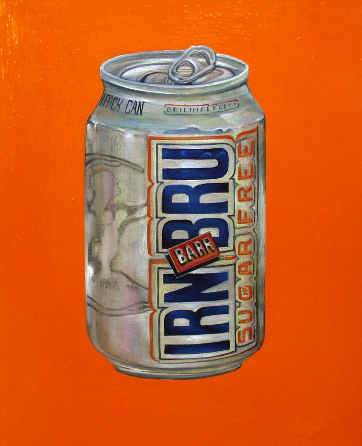 """IRN BRU"" (2014) oil on canvas (20x27cm) by Tiina Lilja"