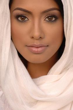 Soft makeup for darker skin