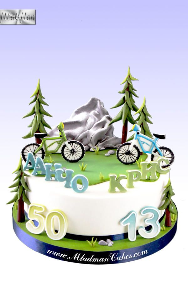 Daddy & Son - Bike Obsession Cake by MLADMAN