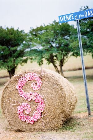 at the road to the wedding?  love this for a country wedding @Heather Creswell Gardner