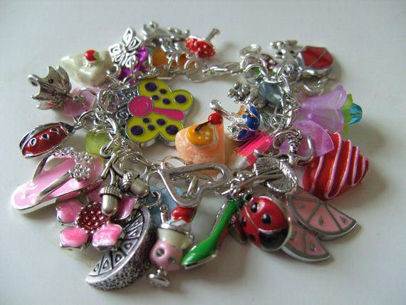 Girls childrens jewellery Loaded  charm Bracelet  by NewellsJewels