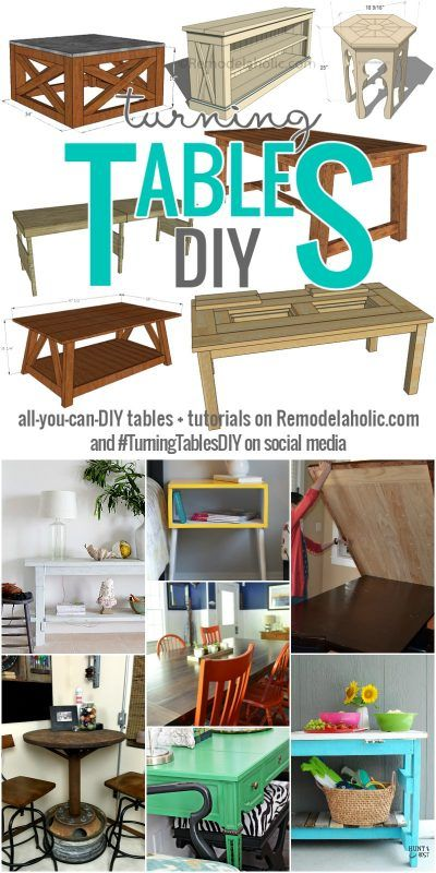It's Turning Tables DIY Week here on Remodelaholic! All week, we're sharing DIY tables: tutorials, ideas, inspiration, and more! Follow along with #TurningTablesDIY.