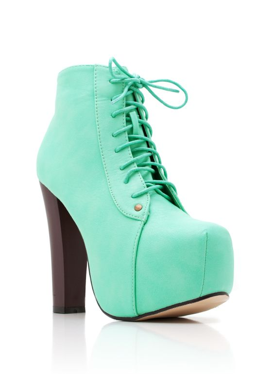 lace-up leatherette platform $37.95  CHEAPER VERSION OF JEFFRY CAMPBELL LITAS, WOO!