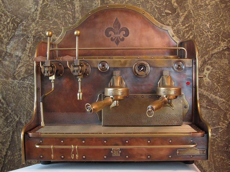 Cooper Espresso machine in Steampunk Stype for rock bar, by Dmitry Tikhonenko