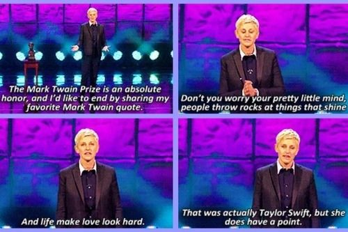 7. Ellen knows how to give a good speech. | Community Post: 21 Reasons You're Excited For Ellen Degeneres To Host The 2014 Oscars