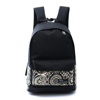 Cheap Canvas Japanese and Korean style high school student school bag backpack (Black and white)Order in good conditions Canvas Japanese and Korean style high school student school bag backpack (Black and white) Before OE702FAABMKAQ4ANMY-127349782 Bags and Travel Women Bags Backpacks OEM Canvas Japanese and Korean style high school student school bag backpack (Black and white)