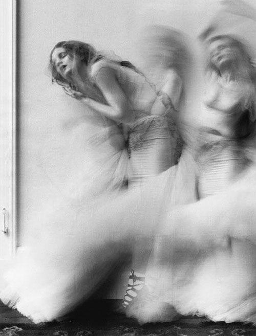 Melancholie² slow shutter speed and multiple exposures dancer minimal monochrome fashion photography dark blackandwhite female portrait