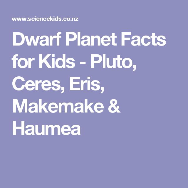 Dwarf Planet Facts for Kids - Pluto, Ceres, Eris, Makemake & Haumea