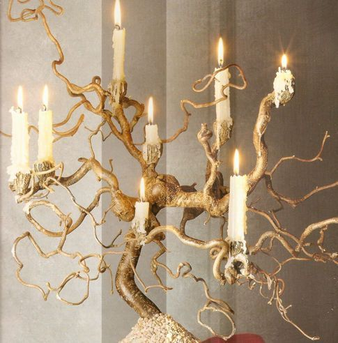 i love candles so much... and old twisty wood... RP »   diy rustic ideas