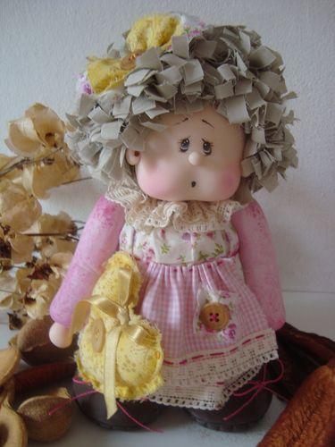 Boneca de biscuit com tecido - Ateliê Lon Arts - Terra Fotolog