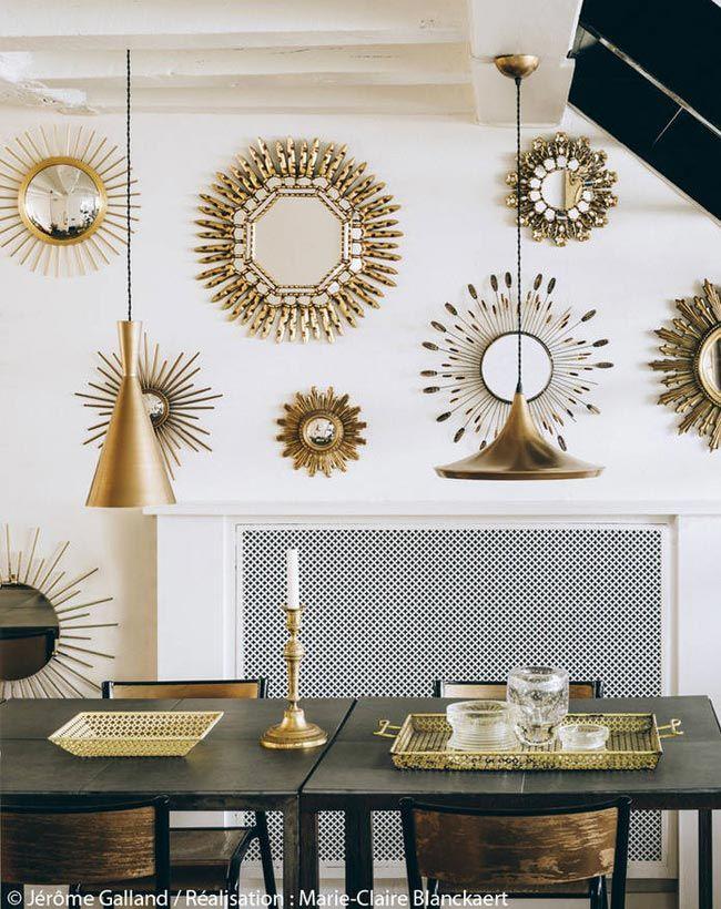 Tr s gold tr s parisien tr s chic o de un apartamento for Espejos ovalados para decorar