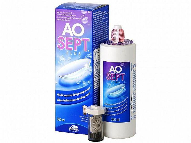 AOSEPT PLUS 360ml - 9.80€ - Καθαριστικό υγρό μαλακών φακών επαφής με υπεροξείδιο.