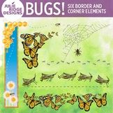 Insect Border and Corner Clip Art Elements #MayTpTClipLove