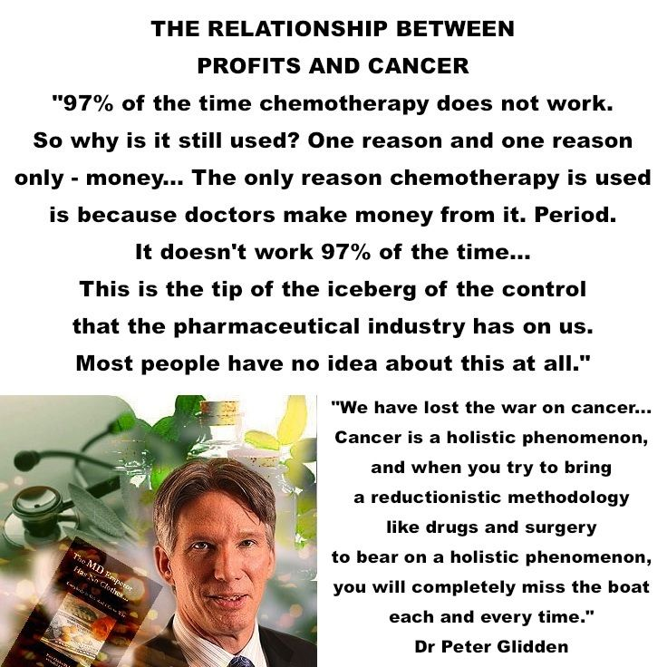 The Journal of Clinical Oncology published a study about chemotherapy's success rates looking at how many cancer patients were still alive after 5 years. They found that 97% of the time chemotherapy does not work. Dr Peter Glidden - https://www.youtube.com/watch?v=5sJFyEDGpG4#t=127