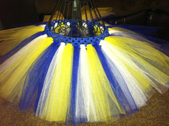 Blue Yellow and White Tutu by JonisTutusAndMore on Etsy ...