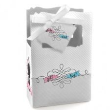 Gender Reveal - Classic Large Favour Boxes (set of 12). Free Shipping.