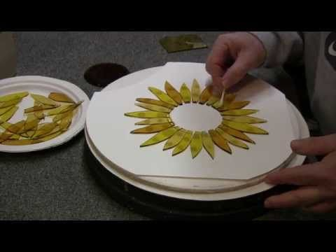Fused Glass Sunflower for Window or Garden - YouTube