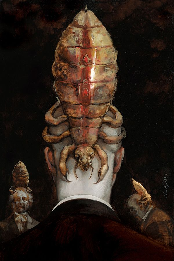 "SANTIAGO CARUSO, ""Los Cantos de Maldonor."", a form of parasite like in 'stargate' but bigger and more attractive to the eyes."