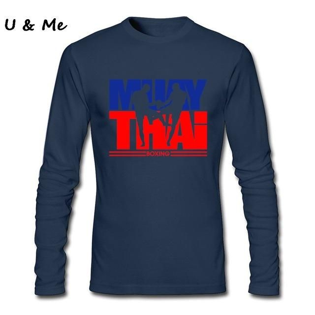 Pro Club Customised T Shirt Men's Muay Thai Long Sleeved Boxinger Fight Easy Cotton T-Shirt