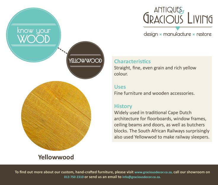 Know Your Wood! Yellowwood