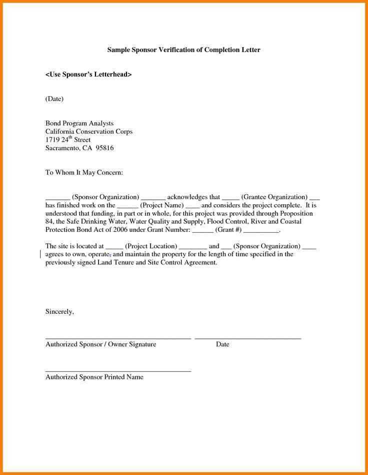 certificate format work experience completion letter template construction project sample