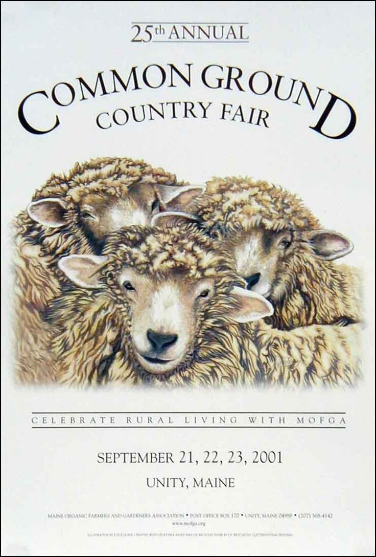 Maine organic farmers and growers assoc. common ground fair poster from 2001