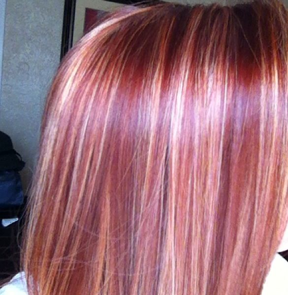 Red Violet Hair Color With Blonde Highlights 51962 Interiordesign