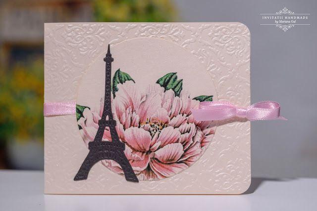 INVITATII HANDMADE: Parisian chic