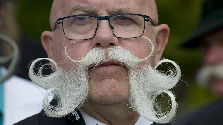 Las mejores barbas y bigotes del mundo se reunieron en Austria  Foto: EFE