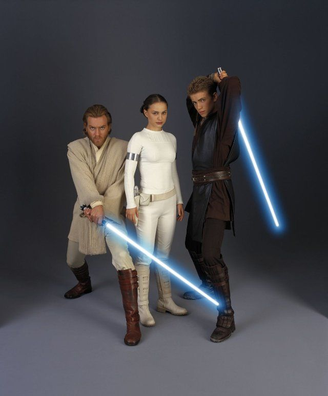Ewan McGregor, Natalie Portman and Hayden Christensen in Star Wars: Episode II - Attack of the Clones