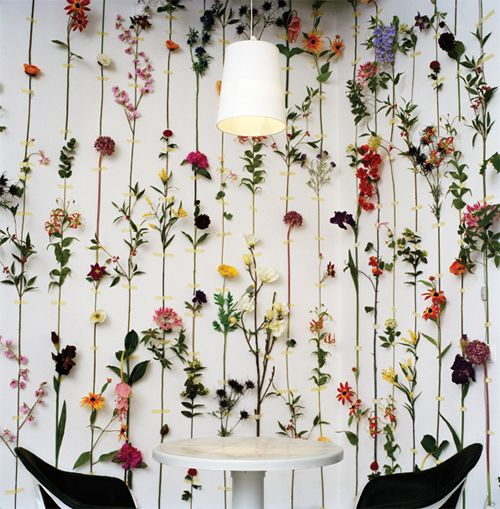 Wonderful walls of flowers by Design Front