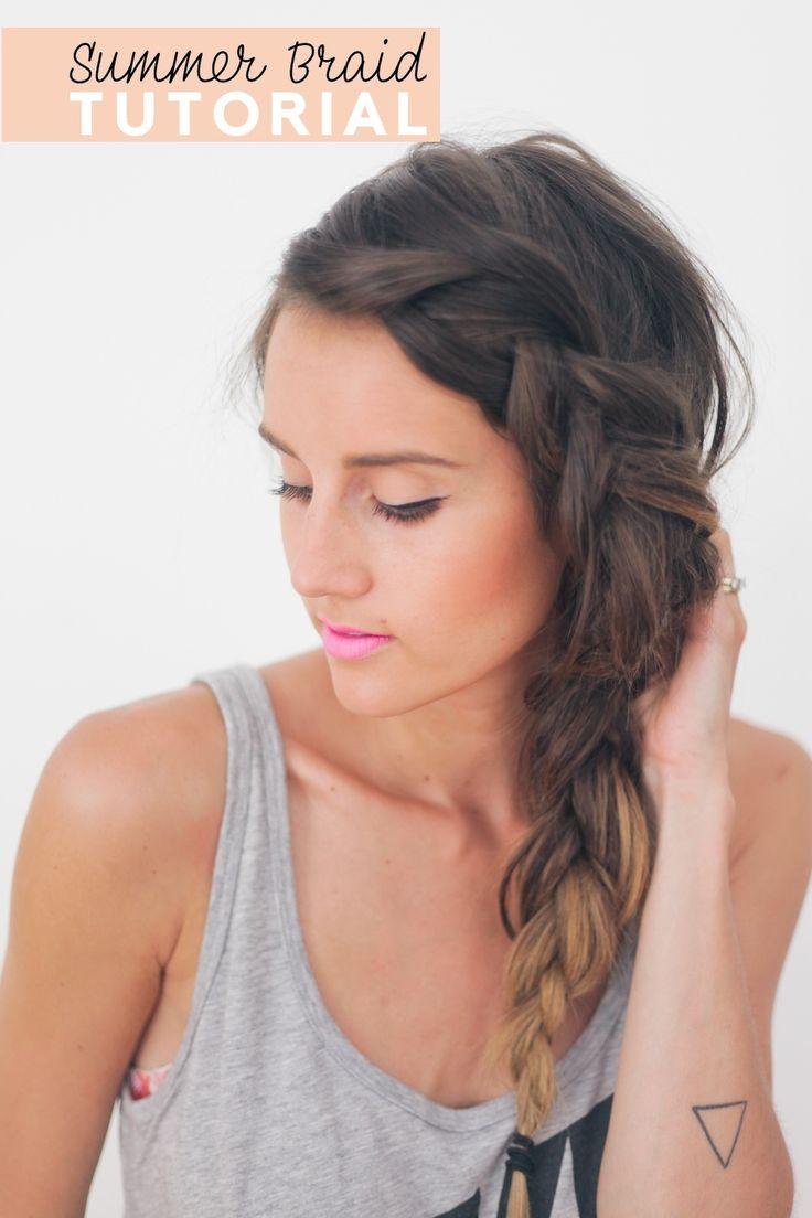 Thick Summer Braid Hair Tutorial: French Braids, Hairstyles, Hair Tutorials, Thick Braids, Hair Style, Summer Braids, Side Braids, Hair Color, Braids Hair
