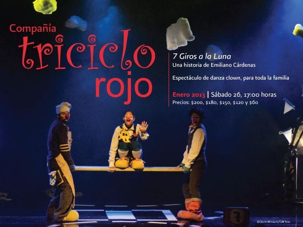 Triciclo Rojo en Bellas Artes, Enero 2013 boletos a la venta!!! @mbellasartes