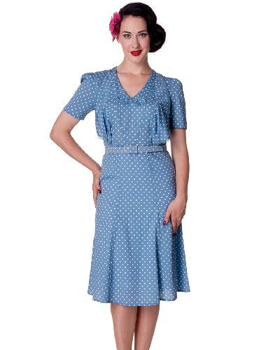 Hell Bunny 40s Jennifer Wartime Tea Dress Blue - UK 10 (S) Tiger Milly http://www.amazon.co.uk/dp/B00JF2XNOY/ref=cm_sw_r_pi_dp_i-Wjub03M97WX
