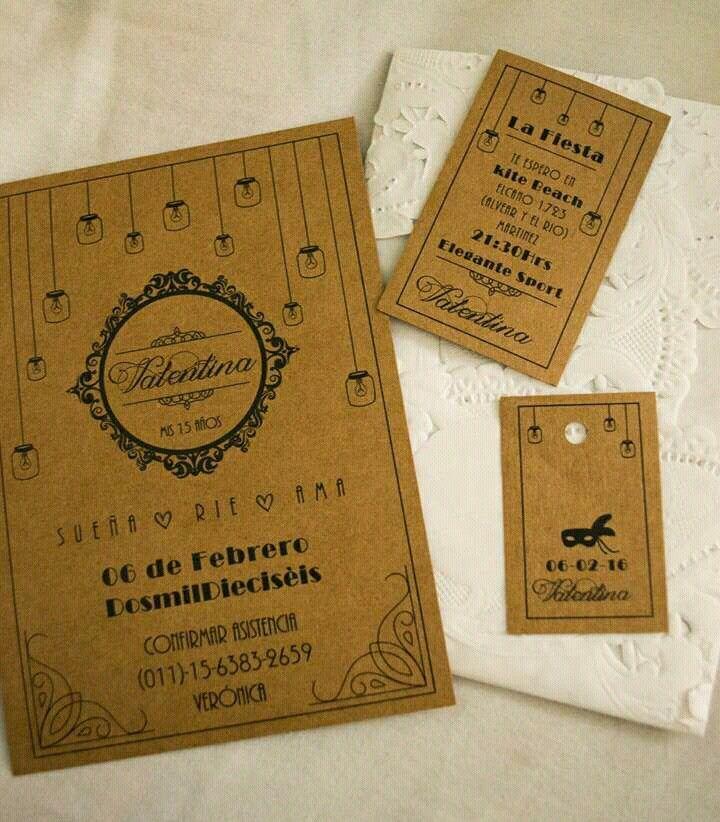 Invitaciones 15 años vintage.