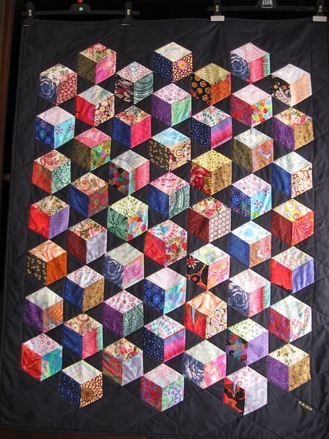 25 Best Ideas About Tumbling Blocks On Pinterest Quilt