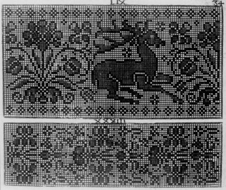 DigitaltMuseum - Illustrasjon av mønster til broderier. Fra Rosina Fürstin: Das neue Modellbuch, Nürnberg 1689.