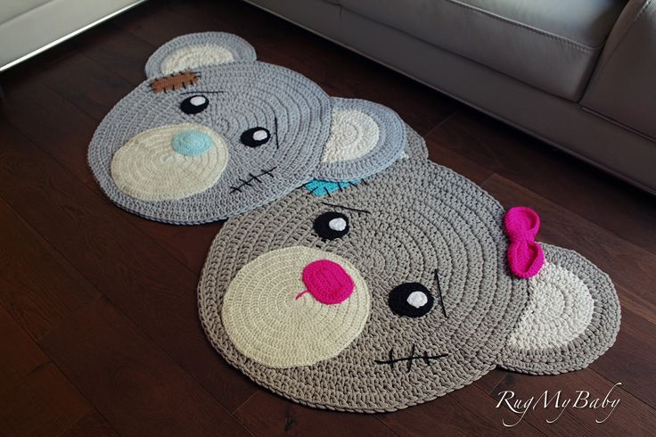 """Baby Rug Nursery Rug Cute Bear Design Home Decoration Area Rugs Environmental Anti-slip Bedroom/Living Room Carpet Mat Baby Crawling Mats Kids Play Mat Machine Washable Rugs (round 29"""") from CA. • This cute Bear Rug is made from soft and natural cotton cord • It's perfect for child's room as an area to play and have fun • Our Bear Rug will make your kids playroom special and unique, and they will love spending time there and play on it. It visually warms your room and makes it really..."""