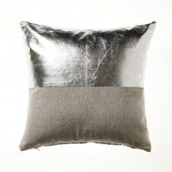 Home Republic Metallicus Cushion Silver, silver cushion, cushions