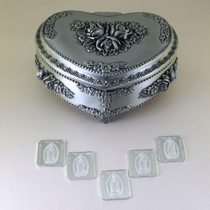 arras de boda en baño de plata .999 se presentan en estuche de pewter #arras #ondinecollection #bodas #ceremonias