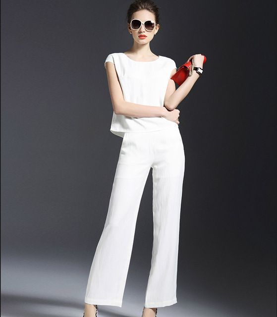 Cheap blouse white, Buy Quality clothing brands for juniors directly from  China blouse tunic Suppliers: high-end women linen blouse tops pants suit  New 2016 ...