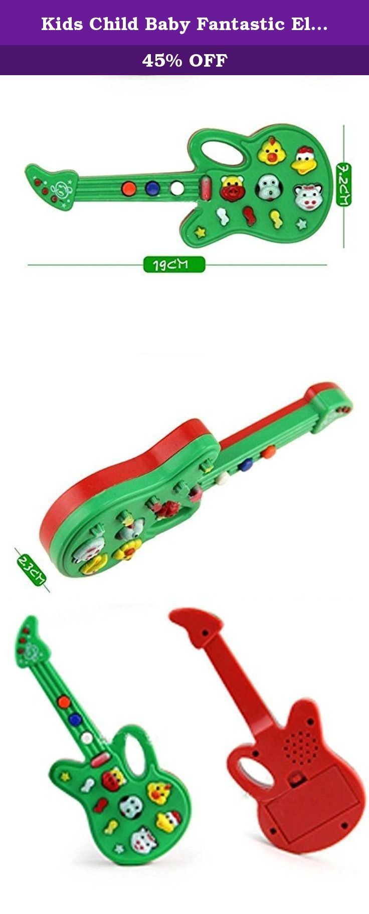 Kids Child Baby Fantastic Electronic Guitar Sound Rhyme Developmental Music Toys. Brand:NEW.Color:Green+Red.Gender:Unisex.Recommended Age Range:1+.1Pc x Guitar Toy ( batteries are not included). 100% brand new and high quality Material: Plastic This is a children's music toys, there are many kinds of music, you can let your child enjoy the pleasure of nursery rhymes. It can help children improve the color, shape, and the understanding of music, promote the development of the brain....