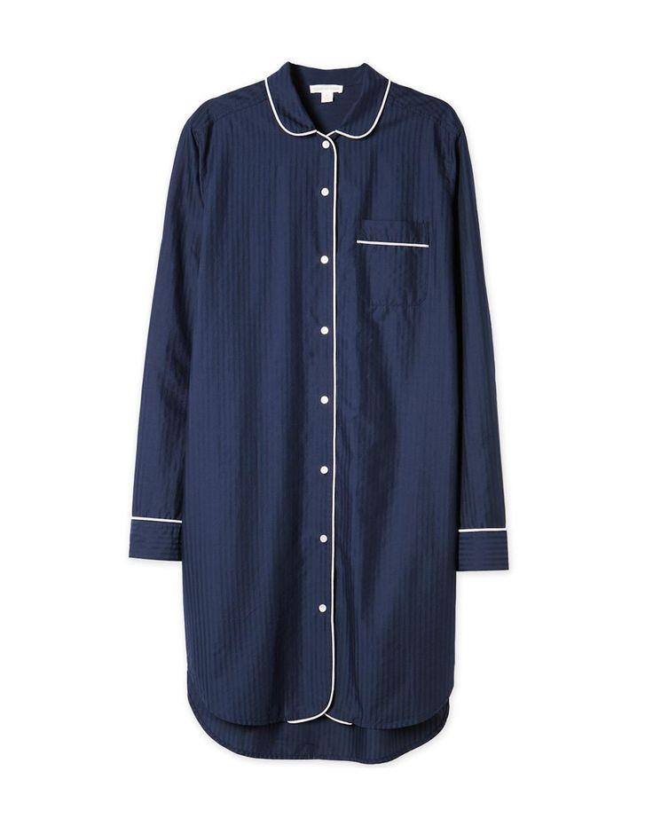 Textured Pyjama Night Shirt