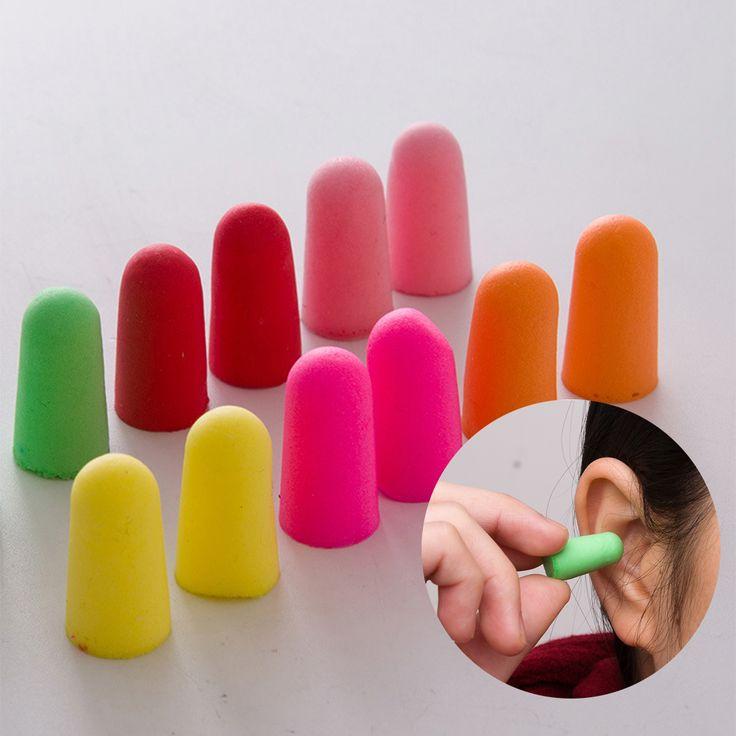 10 Pairs Soft Foam Ear Plugs Tapered Travel Sleep Noise Prevention Earplugs Improve Sleep Hearing Protection
